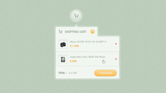 Shopping Cart Free PSD
