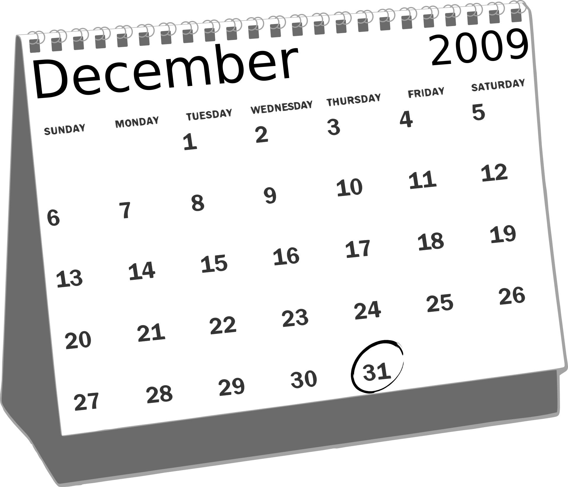 Simple calendar vector
