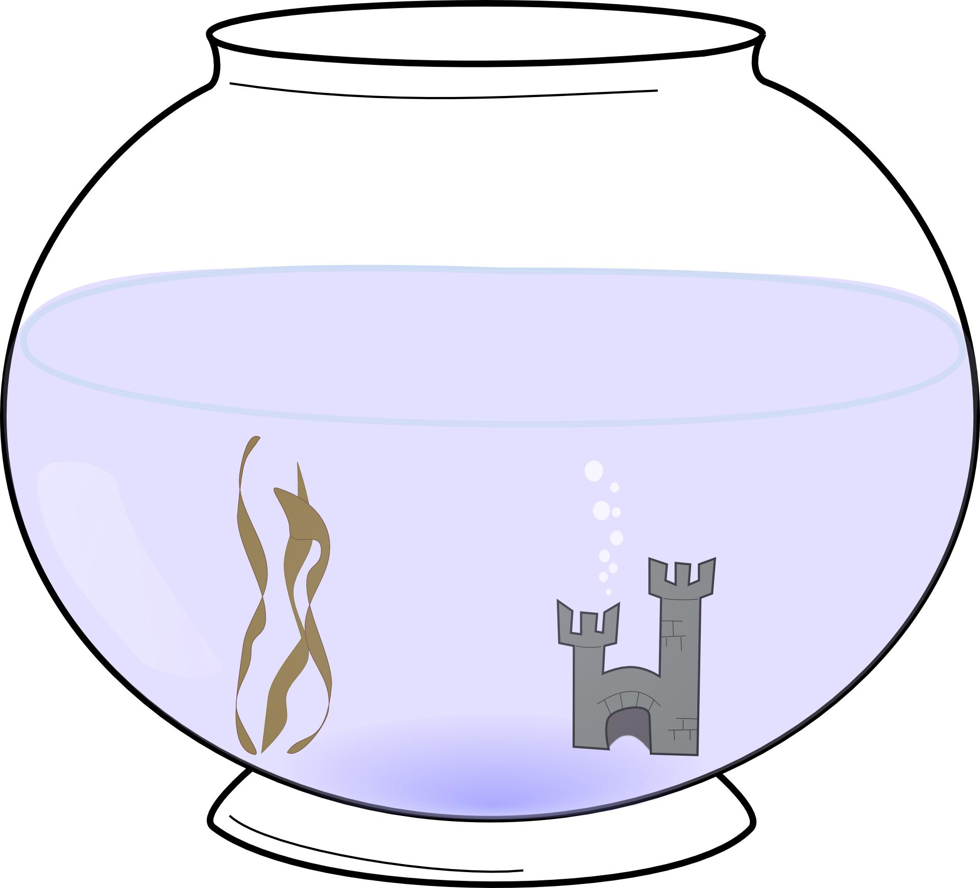 Simple fish tank vector