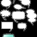 Simple speech bubbles free vector