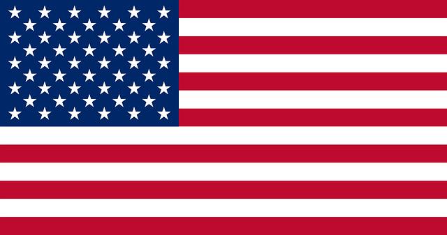 The USA flag symbols