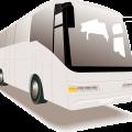Travel motor coach-bus vector