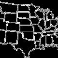 USA map symbols vector