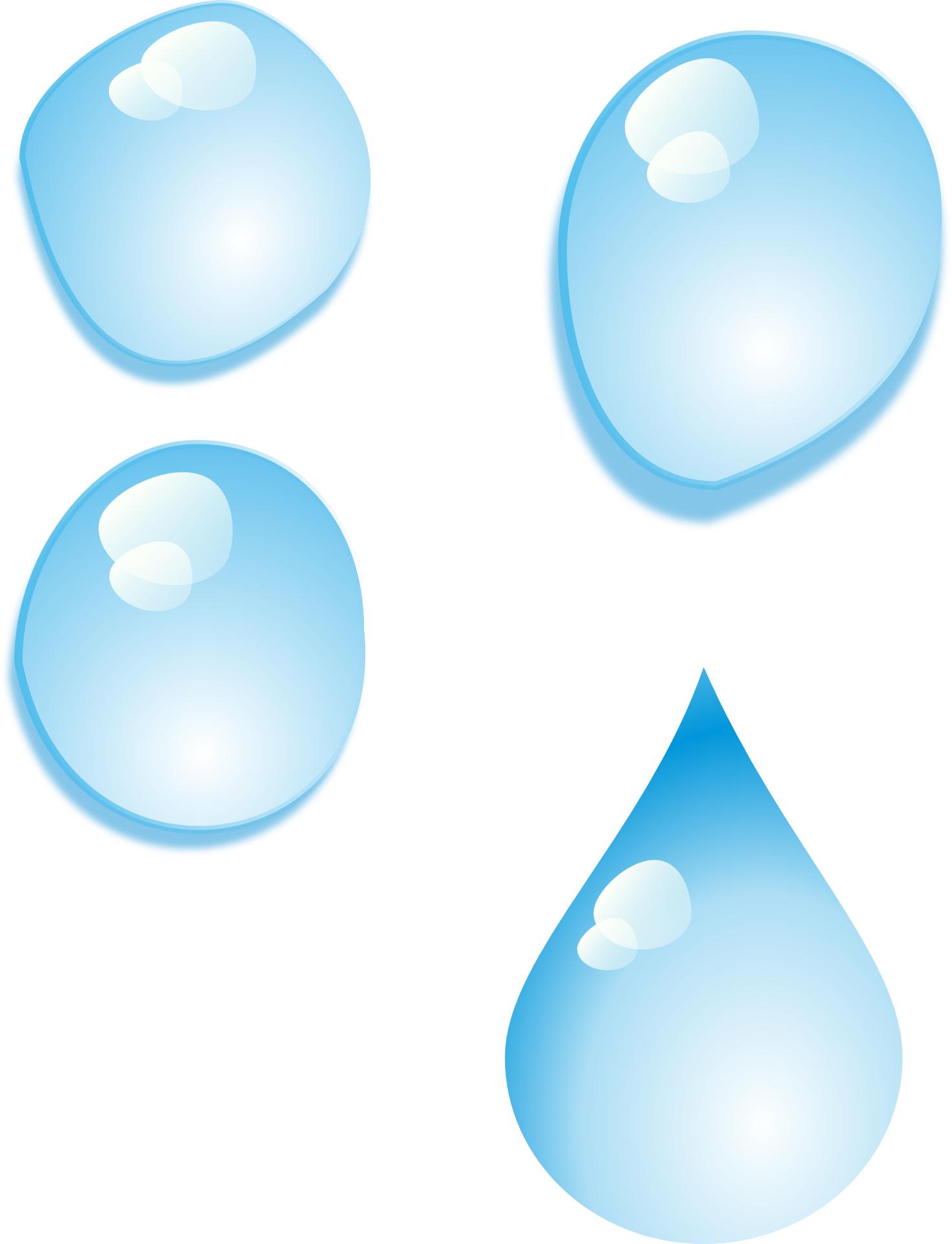 Water drop-raindrop blue cartoon vector