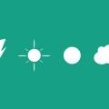 Weather Icons,Cloud,Sun,Lightening(PSD)