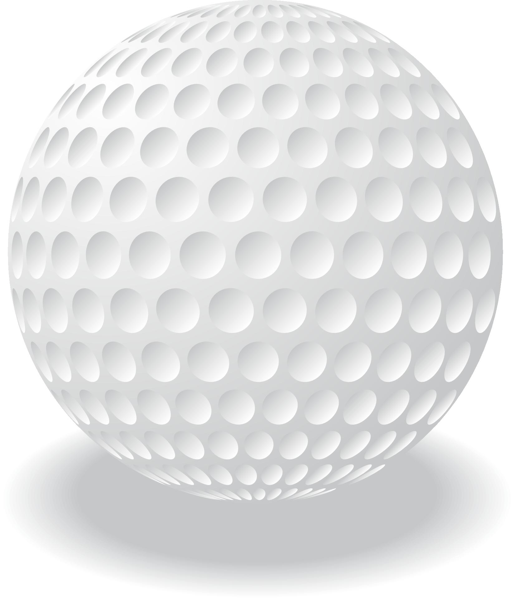 White Golf Ball Vector