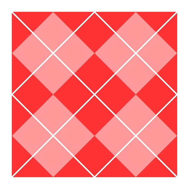 White pink squares argyle & lines pattern