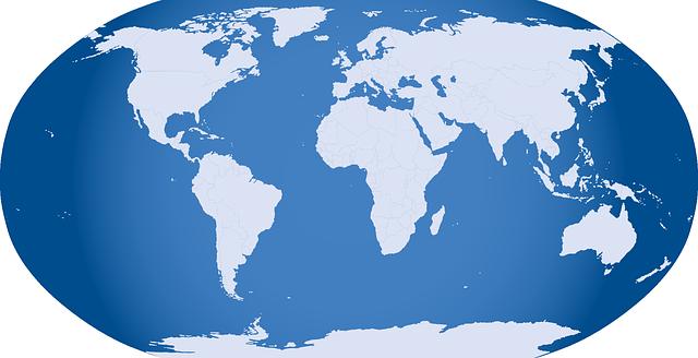 World map outline Vector