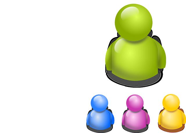 Yellow Blue Purple Green 3-Dimensional avatar vector