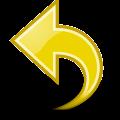 Yellow counter clockwise direction arrow vector
