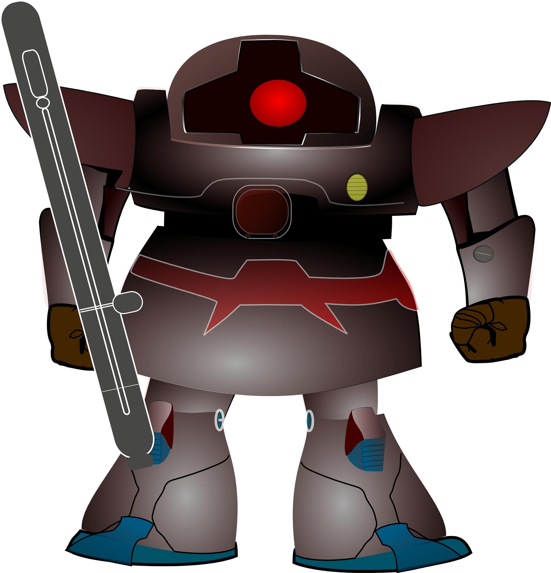 anton electronics robot,cartoon warrior vector