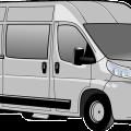 automobile, minivan fiat vector