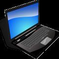 black notebook icon laptop free vector