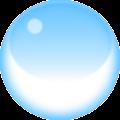 blue crystal ball magic vector