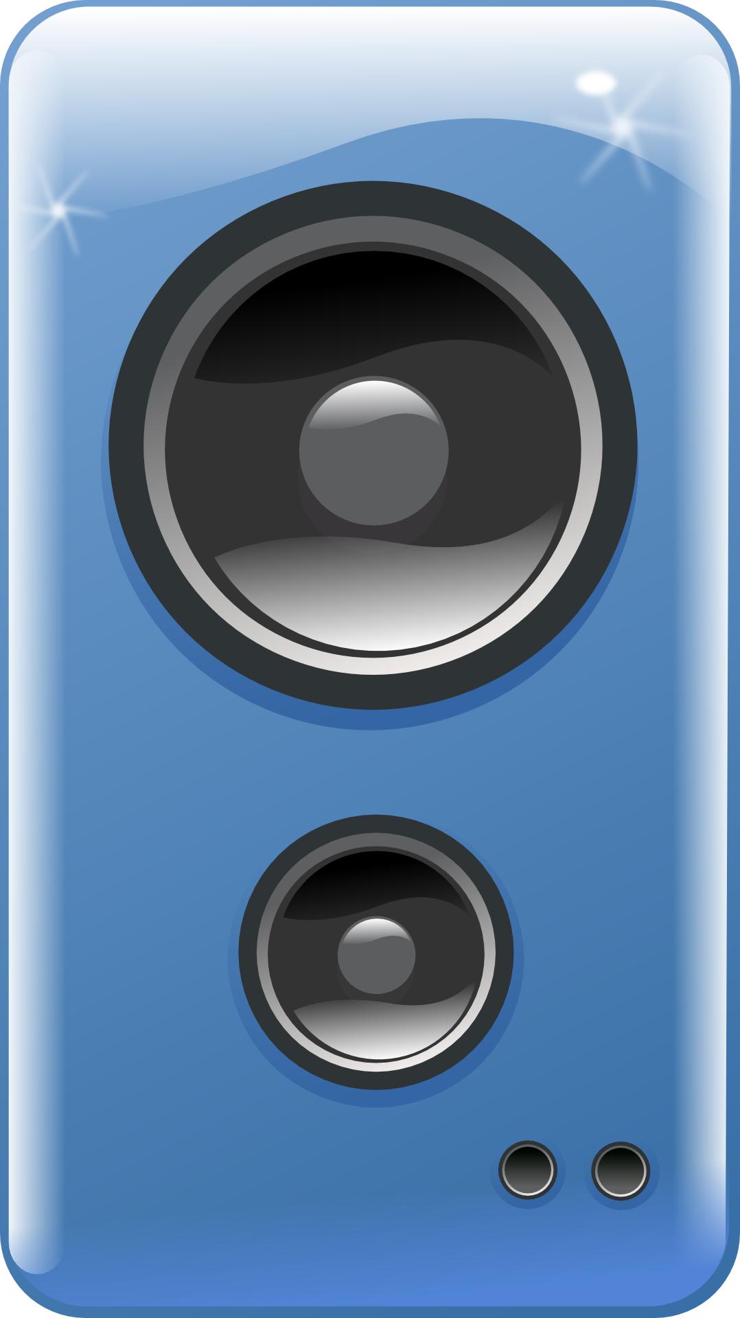 Blue loudspeaker box vector,music soundBox