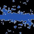 blue splash design vector