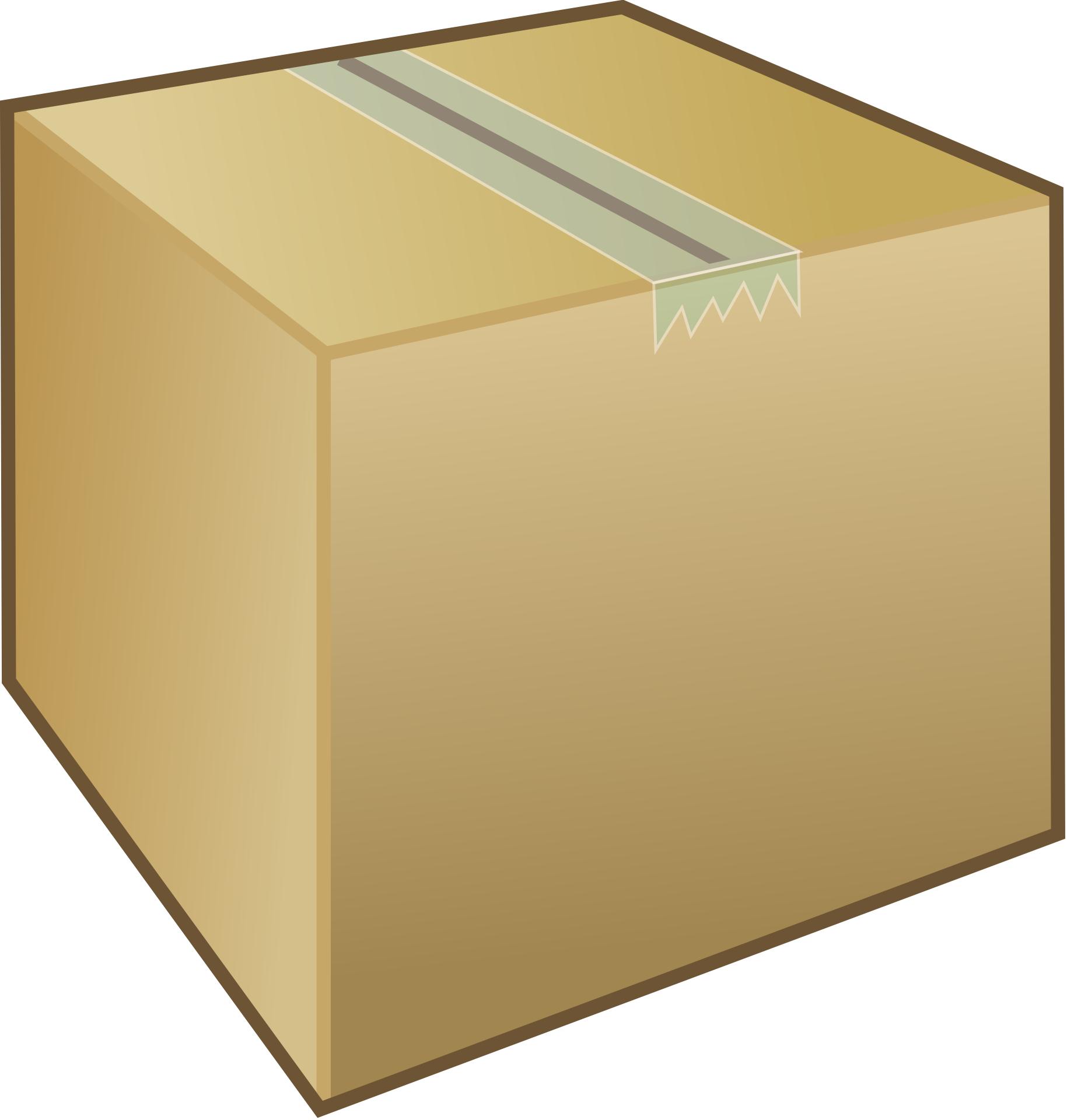 Brown Box Airtight Carboard Carton Vector Free Psd