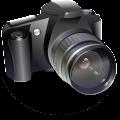 canon slr digital lens camera vector