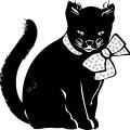 cartoon animal-black cat outline vectorcartoon animal-black cat outline vector