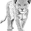 cartoon animal leopard ,hand drawing,leopard vector