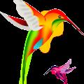 cartoon fly birds free vector