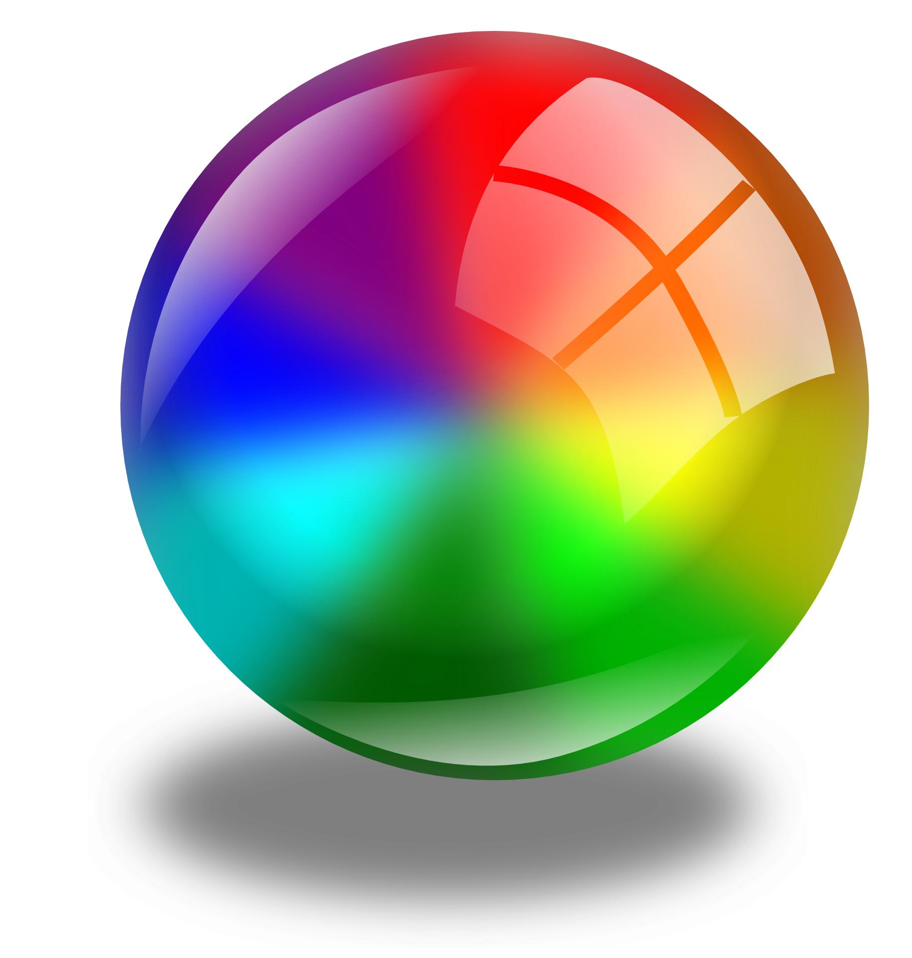 circle ball & color circles sphere vector