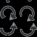 black, arrow, direction,straight,clockwise,counterclockwise arrow vector