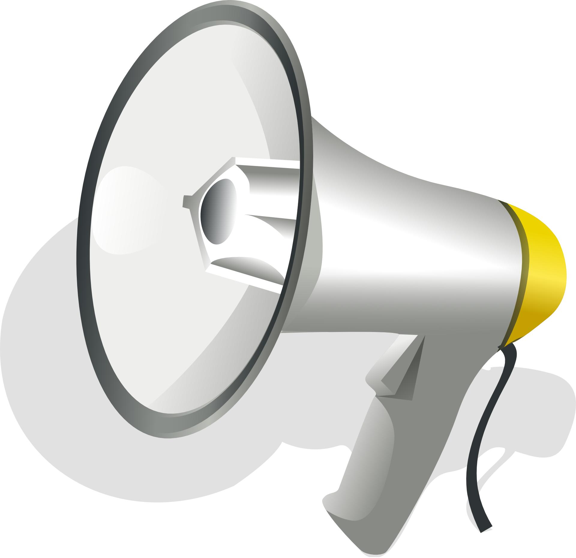 Handheld megaphone - bugle vector