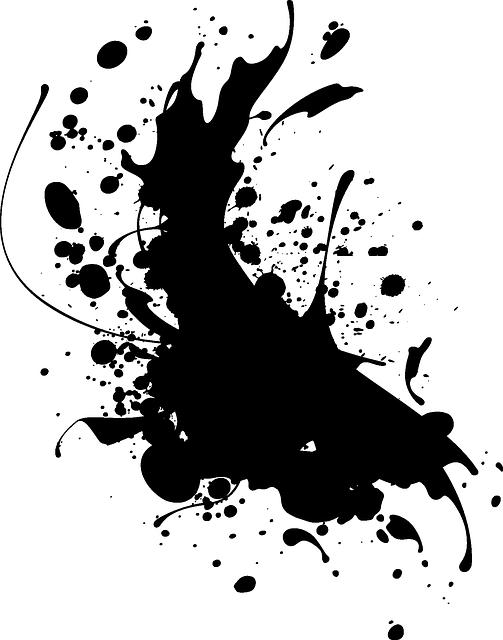Ink black splat vector