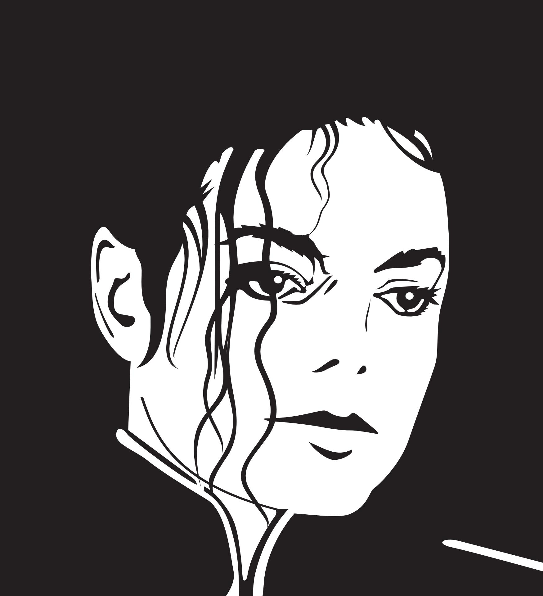 michael jackson,outline vector