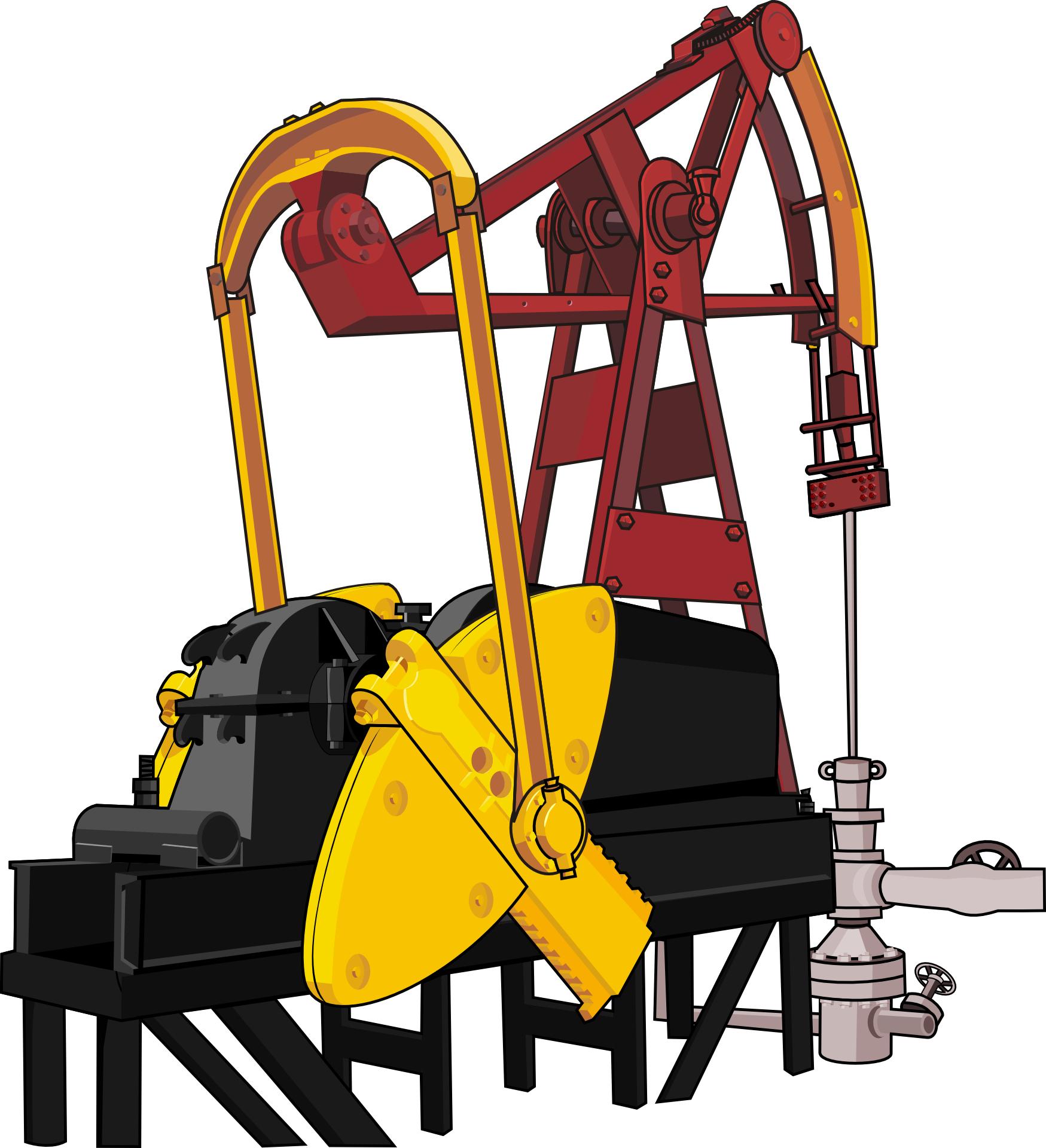 oil drilling,oil pump vector