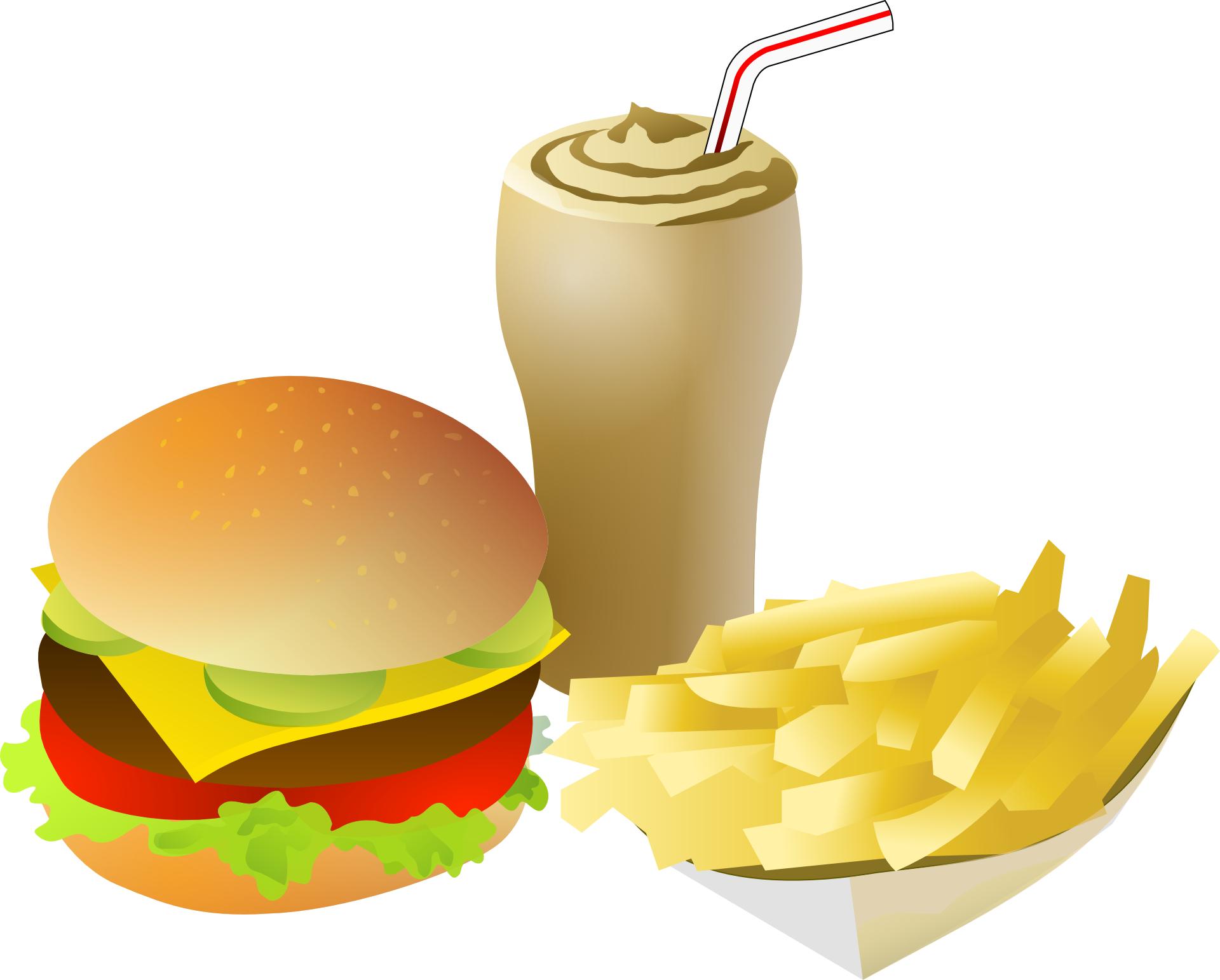 orange-yellow fries,drink,hamburger,delicious food