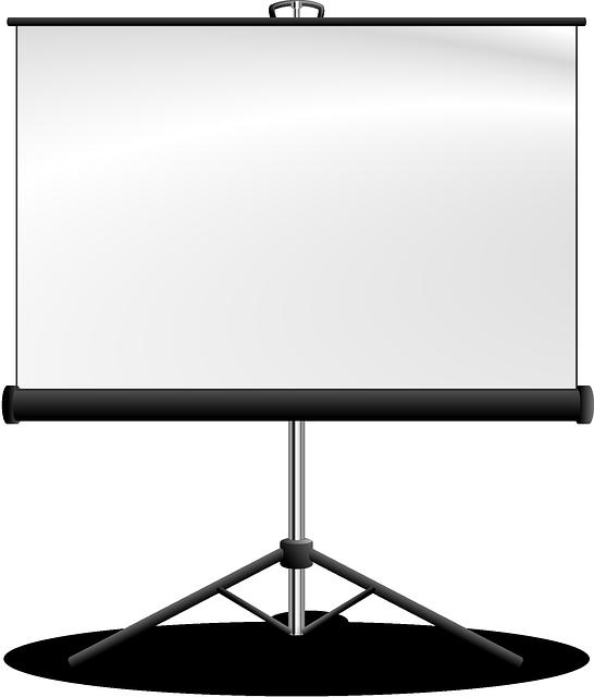 screen presentation Projector vector
