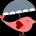 umbrella love bird free vector