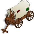 vintage gharry-cartoon vector