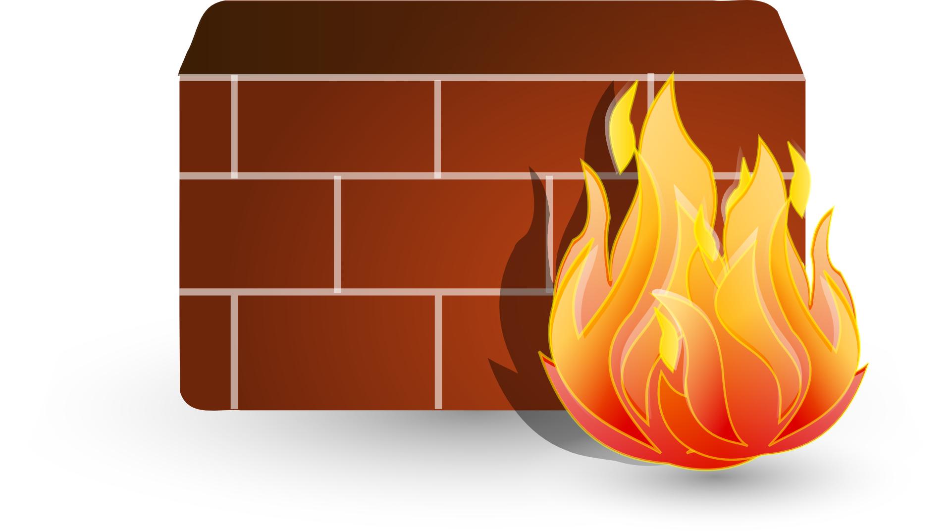 wall,fire,symbol of firewall vector