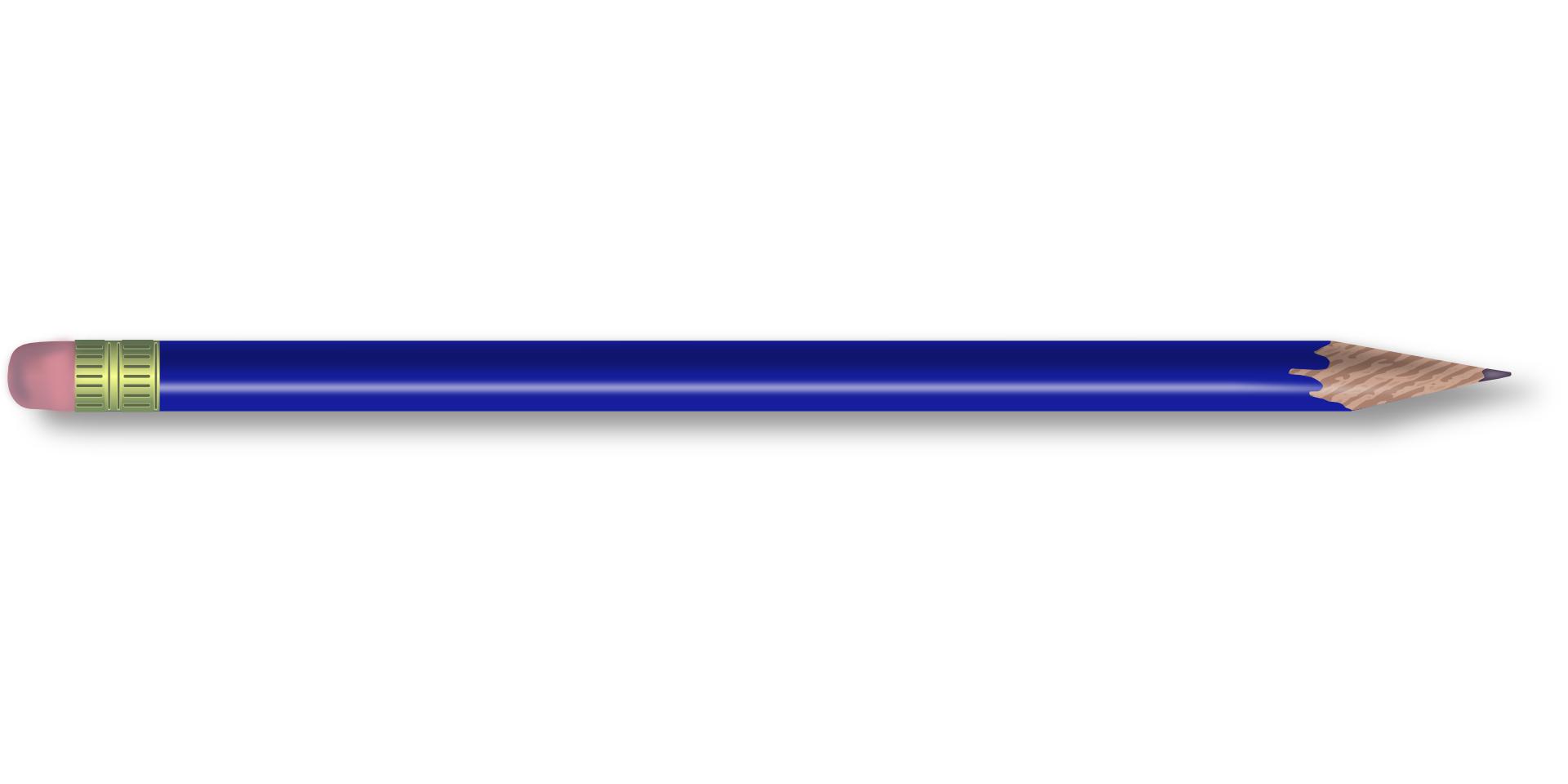 writing tool,blue pencil vector
