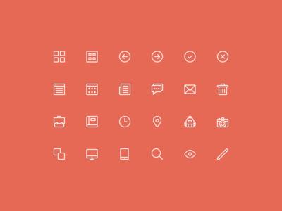 24 Free Tiny Icons PSD