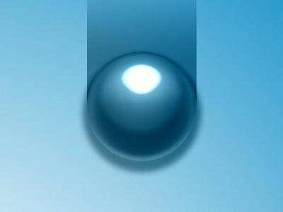 Blue Liquid Sphere PSD