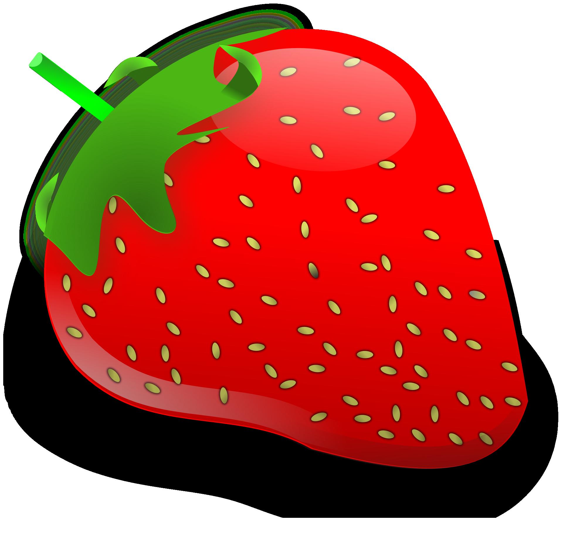 Cartoon Fruit-Red strawberry vector