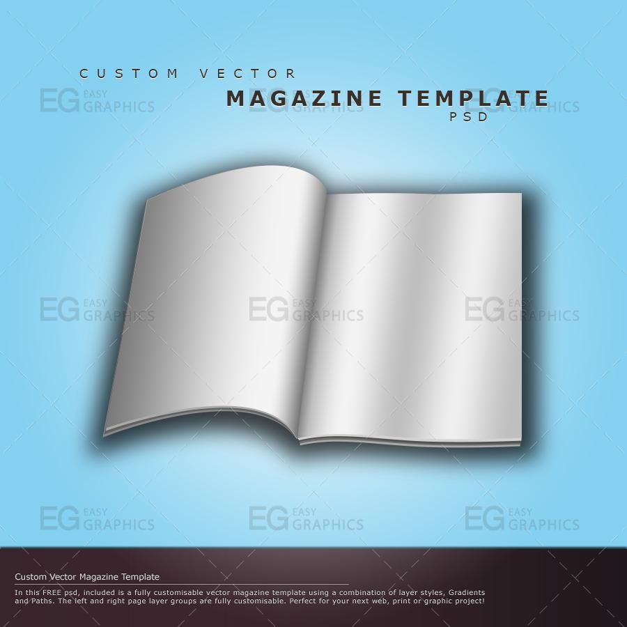 Custom Vector Magazine Template PSD