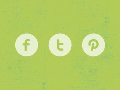 Facebook Twitter Pinterest icon Layered PSD shape