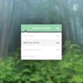 Flat Admin Setings PSD-Drop down Menu UI Design