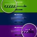 Free Blue Green Purple Progress Bar PSD