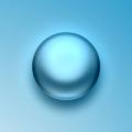 Free Blue Liquid Sphere PSD
