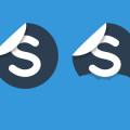 Free Blue Skype Peel PSD
