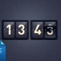 Free Delicate Clock PSD