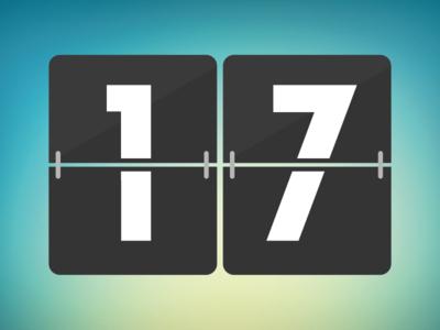 Free Flat Countdown Vector (EPS)