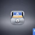 realistic,slick,blue,case icon,documents icon,folder icon,glossy icon,lock icon,metal icon,metallic icon