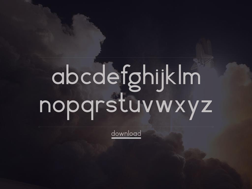 Free Geometric Font Vector